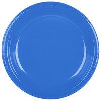 Creative Converting 28145031B 10 1/4 inch True Blue Plastic Plate - 50 / Pack