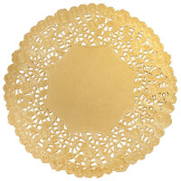 8 inch Gold Foil Lace Doily - 500 / Case