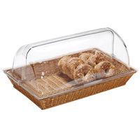 GET WB-1552-HY 21 inch x 12 3/4 inch x 2 3/4 inch Designer Polyweave Honey Rectangular Basket - 12 / Case
