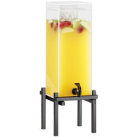 Cal-Mil 1132-1-13 Black One By One 1.5 Gallon Beverage Dispenser with Ice Chamber