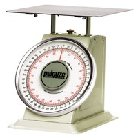 Rubbermaid Pelouze 10B100 100 lb. / 45 kg. Mechanical Receiving Scale - Dual Read (FG10B100)