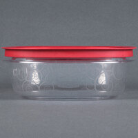 Rubbermaid 7H78 9 Cup Clear Square Premier Storage Container with Chili Red Lid (FG7H78TRCHILI)