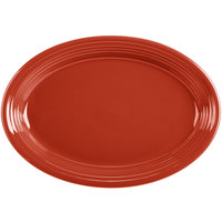 Homer Laughlin 458326 Fiesta Scarlet 13 5/8 inch Platter - 12/Case