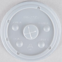 16 oz. Clear Plastic Lid with Straw Slot - 1000 / Case