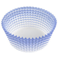 Ateco 6438 2 inch x 1 1/4 inch Blue Striped Baking Cups - 200 / Box (August Thomsen)
