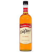 DaVinci Gourmet 750 mL Passion Fruit Classic Coffee Flavoring / Fruit Syrup