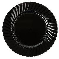 """WNA Comet CW9180BK Classicware 9"""" Black Plastic Plate   - 180/Case"""