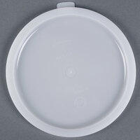 Carlisle 060302 Lid for 6, 8 Qt. White Round Containers