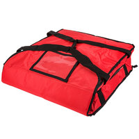 Rubbermaid 9F35 ProServe 18 inch x 18 inch x 5 1/4 inch Red Insulated Small Nylon Pizza Delivery Bag