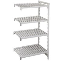 Cambro Camshelving Premium CPA244872V4480 Vented Add On Unit 24 inch x 48 inch x 72 inch - 4 Shelf
