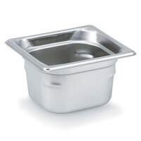 Vollrath Super Pan 3 90622 1/6 Size Anti-Jam Stainless Steel Steam Table Pan - 2 1/2 inch Deep
