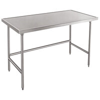 Advance Tabco TVSS-242 24 inch x 24 inch 14 Gauge Open Base Stainless Steel Work Table