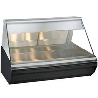 Alto-Shaam EC2-48/P S/S Stainless Steel Heated Display Case with Angled Glass - Self Service 48 inch