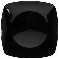 Fineline Renaissance 1508-BK 7 1/2 inch Black Plastic Salad Plate - 120/Case