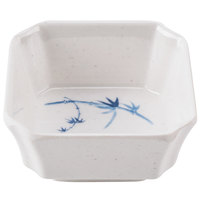 Blue Bamboo 4 oz. Square Melamine Bowl - 12/Pack