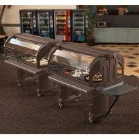 Cambro VBRHD5146 Bronze 5' Versa Food / Salad Bar with Heavy Duty Casters