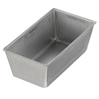 Chicago Metallic 40415 3/8 lb. Single Open Top Glazed Bread Pan - 5 1/2 inch x 3 inch x 2 3/16 inch