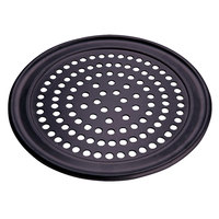American Metalcraft SPHCTP9 9 inch Super Perforated Hard Coat Anodized Aluminum Wide Rim Pizza Pan