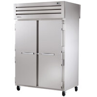 True STR2HPT-2S-2S Specification Series Two Section Pass-Through Heated Holding Cabinet - 56 Cu. Ft.