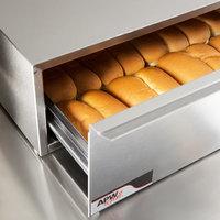 APW Wyott BWD-50 Dry Hot Dog Bun Warmer for HR-50 Series Hot Dog Roller Grills - Holds 40 Buns, 120V