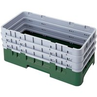 Cambro HBR712119 Sherwood Green Camrack Half Size Open Base Rack with 3 Extenders