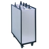 APW Wyott Lowerator ML3-9 Mobile Enclosed Unheated Three Tube Dish Dispenser for 8 1/4 inch to 9 1/8 inch Dishes