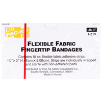 Medique 62612 Medi-First 1 3/4 inch x 2 inch Woven Fingertip Bandage - 10 / Box