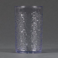 Carlisle 550907 Pebble Optic 9.5 oz. Clear SAN Plastic Tumbler - 24/Case