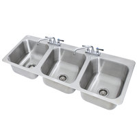 Advance Tabco DI-3-1410 3 Compartment Drop In Sink - 16 inch x 14 inch x 10 inch Bowls