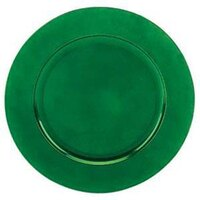 Tabletop Classics TRG-6663 13 inch Green Round Acrylic Charger Plate