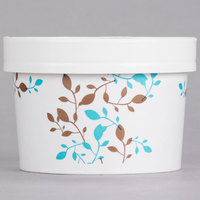 Huhtamaki Chinet 52217 8 - 10 oz. Double-Wall Poly Paper Soup / Hot Food Cup with Vented Paper Lid and Vine Design - 250 / Case