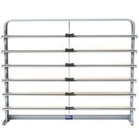 Bulman T624-40 40 inch Horizontal Gray 6 Roll Paper Cutter Rack