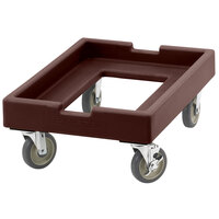 Cambro CD1826PDB131 Dark Brown Pizza Dough Box Camdolly
