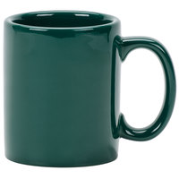 Tuxton BGM-1202 DuraTux Hunter Green 12 oz. China C-Handle Mug 24/Case