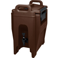 Cambro UC250131 Dark Brown Ultra Camtainer 2.75 Gallon Insulated Beverage Dispenser