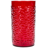 Carlisle 551710 Pebble Optic 16.7 oz. Ruby SAN Plastic Tumbler - 24/Case