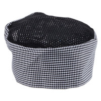 Chef Revival H009-XL 22 inch-23 1/2 inch Houndstooth Extra Large Poly-Cotton Blend Pill Box Chef Hat