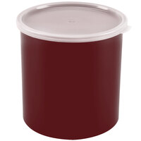 Cambro CP27416 Cranberry Round Crock with Lid 2.7 Quart - 6/Case