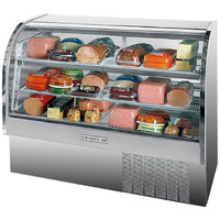 Beverage Air CDR5/1-S-20 Stainless Steel Exterior Curved Glass Refrigerated Bakery Display Case 61 inch - 22.9 Cu. Ft.