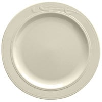 Homer Laughlin American White (Ivory / Eggshell) Lyrica 9 3/4 inch China Plate - 24/Case