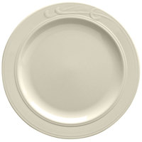 Homer Laughlin 6081000 Lyrica 9 3/4 inch Ivory (American White) China Plate - 24/Case