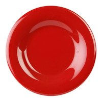 11 3/4 inch Pure Red Wide Rim Melamine Plate 12 / Pack