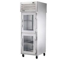 True STR1RPT-2HG-1S-HC Specification Series 27 1/2 inch Half Glass Front, Solid Back Door Pass-Through Refrigerator