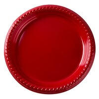 Dart Solo PS75R-0099 7 inch Red Plastic Plate 500 / Case