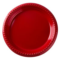 Dart Solo PS75R-0099 7 inch Red Plastic Plate - 500 / Case