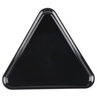Fineline 3561-BK Platter Pleasers 16 inch Black Plastic Triangular Tray - 20/Case