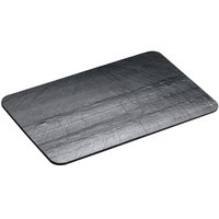 Cal-Mil 1522-1014-65 10 inch x 14 inch Black Rectangular Slate Serving / Display Stone