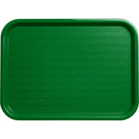 Carlisle CT121609 Cafe 12 inch x 16 inch Green Standard Plastic Fast Food Tray
