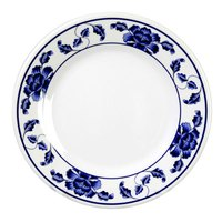Lotus 12 5/8 inch Round Melamine Plate - 12 / Pack