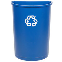 Rubbermaid FG352073BLUE 21 Gallon Blue Half Round Recycling Container
